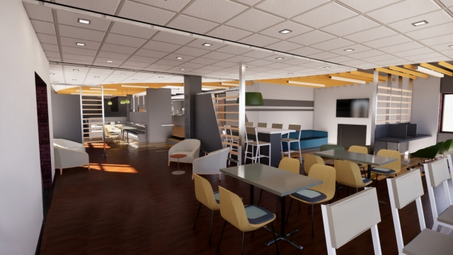 SUNY Plattsburgh Kent Hall lounge (rendering)